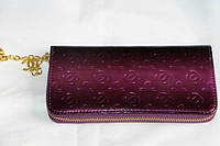 Лаковый кошелек с искусственной кожи фиолетовый Chanel