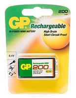 Аккумулятор GP Rechargeable 6F22 (Крона) 200 mAh Ni-MH