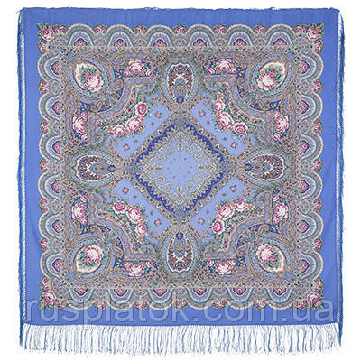 Русское раздолье 1619-13, павлопосадский платок шерстяной (двуниточная шерсть) с шелковой бахромой