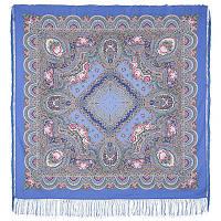 Русское раздолье 1619-13, павлопосадский платок шерстяной (двуниточная шерсть) с шелковой бахромой, фото 1