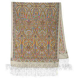 Романтичне побачення 1388-51, павлопосадский вовняний шарф з шовковою бахромою