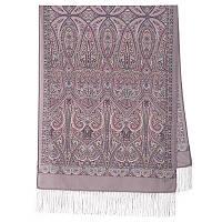 Романтическое свидание 1388-54, павлопосадский шарф шерстяной  с шелковой бахромой, фото 1