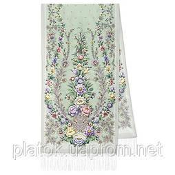 Пора надій 1645-1, павлопосадский шовковий шарф крепдешиновый з шовковою бахромою
