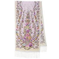 Пора надежд 1645-50, павлопосадский шарф шелковый крепдешиновый с шелковой бахромой