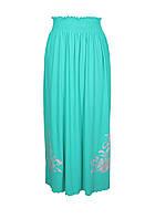 Длинная юбка женская соригинальным  принтом/рисунком на лето больших размеров из качественной легкой ткани.