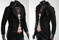 Приталенное кашемировое пальто с капюшоном M, Чёрный