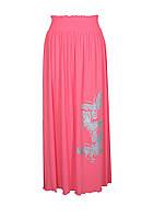 Модная женская юбка в пол из легкой ткани на резинке, размер 46-64.