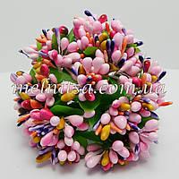 Веточки с  разноцветными тычинками, розово-малиновый микс,