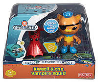Набор - октонавты -Квази и вампир сквид. Fisher-Price Octonauts Kwazii and The Vampire Squid, фото 1