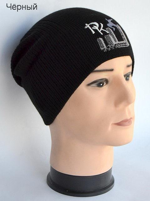 Чёрная шапка для мальчика
