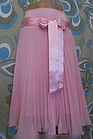 Женская шифоновая юбка  плиссированная евро длина