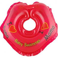 """Круг Babyswimmer красный. Серия """"Я люблю"""" Вес 3 - 12 кг"""