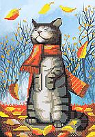 """Схема для вышивки бисером """"Осенний кот"""", А4 формат, фото 1"""