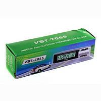 Внутренний и наружный термометр с часами VST-7065