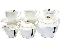 Набор чайный 15 предметов interos Снежная королева PT0116-A  6 ч, с блюдцами 280 мл,зав, 850 мл,мол,