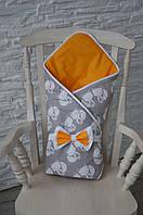 Конверт-одеяло на выписку Лисенок Лето, фото 1