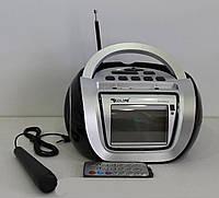 Бумбокс колонка караоке часы MP3 Golon RX 656Q BLC