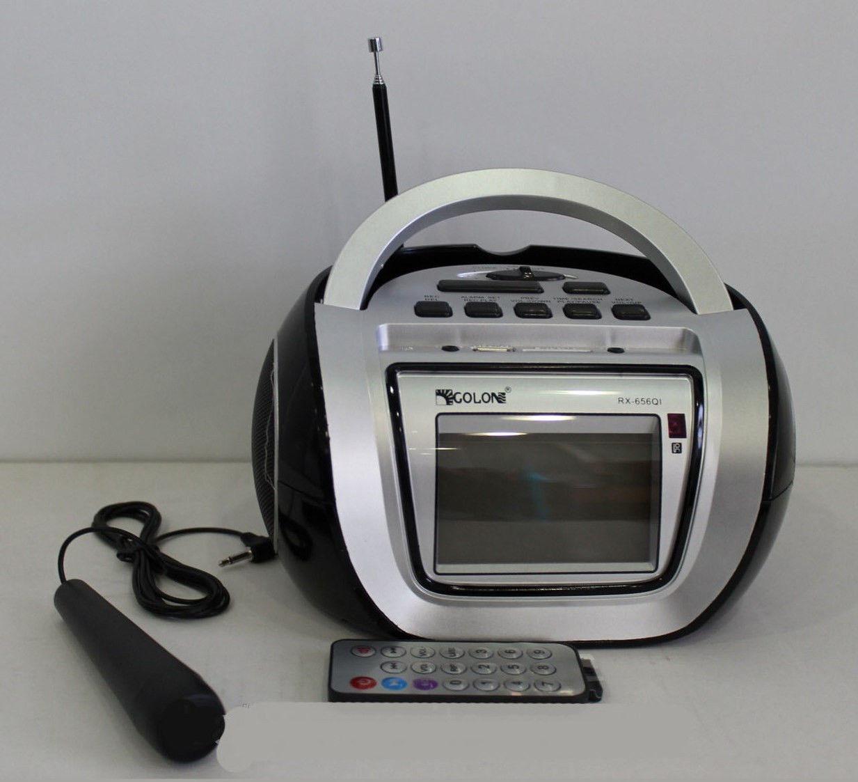 Бумбокс колонка караоке часы MP3 Golon RX 656Q BLC - Техно порт в Днепре