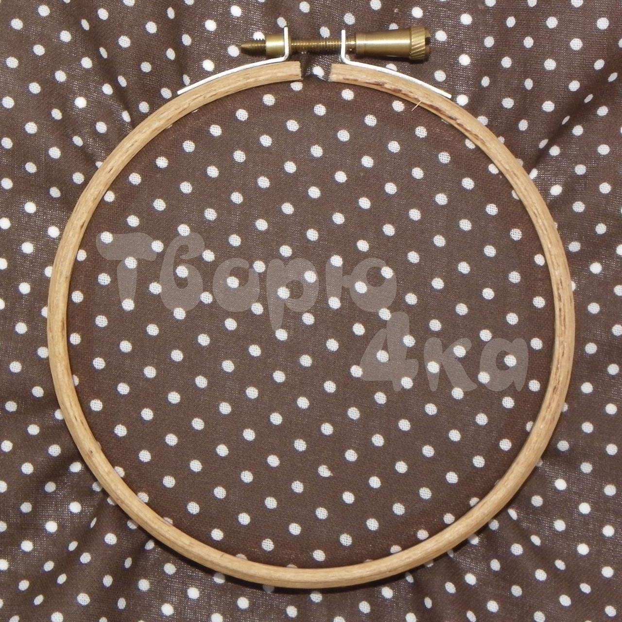 Ткань для пэчворка, кукл тильда коричневая в горошек