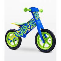 Детский беговел Caretero Zap (blue-green), синий с зеленым