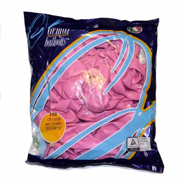 """Пастель розовый 12"""" (30 см) Gemar (упаковка 100 шт)"""