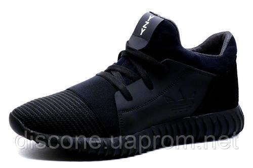 Кроссовки мужские Adidas Yeezy CC35 Black, черные, кожа