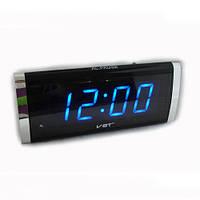 Стильные часы с будильником vst-730-5 синие