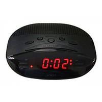 Часы-будильник с fm-приёмником 908-1, красный led-экран, стильный дизайн, электронные, питание 220v