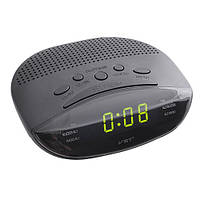 Часы-будильник с fm-приёмником 908-2 зеленый led-экран, стильный дизайн, электронные, питание 220v