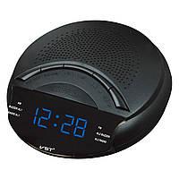 Радио-будильник vst-903-5, led-дисплей, синие цифры, автопоиск радио, автоотключение, отсрочка сигнала
