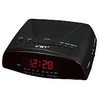Часы с радиоприёмником vst-905-1, красные, электронный будильник с авторежимом, формат времени - 24