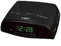 Часы с радиоприёмником vst-905-2, зеленые, электронный будильник с авторежимом, формат времени - 24