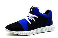 Кроссовки мужские Adidas Yeezy Boost CC35, кожа, черные с синим, р. 40