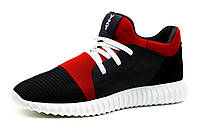 Кроссовки мужские Adidas Yeezy Boost CC35, кожа, черные с красным, фото 1