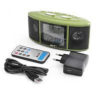 Радио-часы VST-783 (портативная акустика, воспроизведение с SDHC и USB, термометр, FM,будильник)