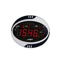 Часы сетевые VST 770 Т-1 красные, пульт Д/У