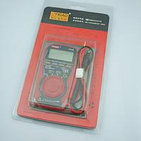 Компактный мультиметр ua18, чехол-книжка для хранения, ток, напряжение, сопротивление, тест диодов, батарей