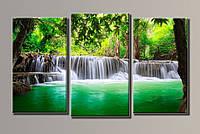 "Модульная картина на холсте ""Водопад в джунглях"""