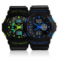 Мужские спортивные наручные часы Skmei 0955, двойной циферблат, водонепроницаемые, противоударные