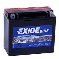 Мото аккумулятор EXIDE YTX20HL-BS, фото 1