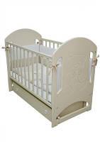 Детская кроватка Соня ЛД–8, маятник, со стразами