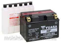 Аккумулятор для мотоцикла YUASA YT12A-BS сухозаряженный AGM 10Ah 175A 150x87x130, фото 2