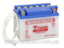 Аккумулятор для мотоцикла сухозаряженный YUASA YB4L-B  4AH 120X70X92