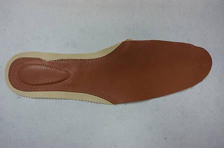 Стелька кожаная цвет коричневый, фото 2