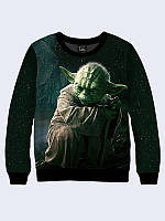 Свитшот женский 3D Yoda звездные войны