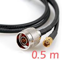 ALFA CFD-200 N-SMA 0.5м low loss кабель пигтэйл