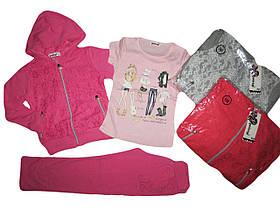 Трикотажный костюм-тройка для девочек,Goloxy, размеры 116.122. арт. MQ 789