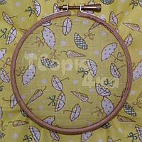 Ткань для пэчворка, кукл тильда желтая в зонтики