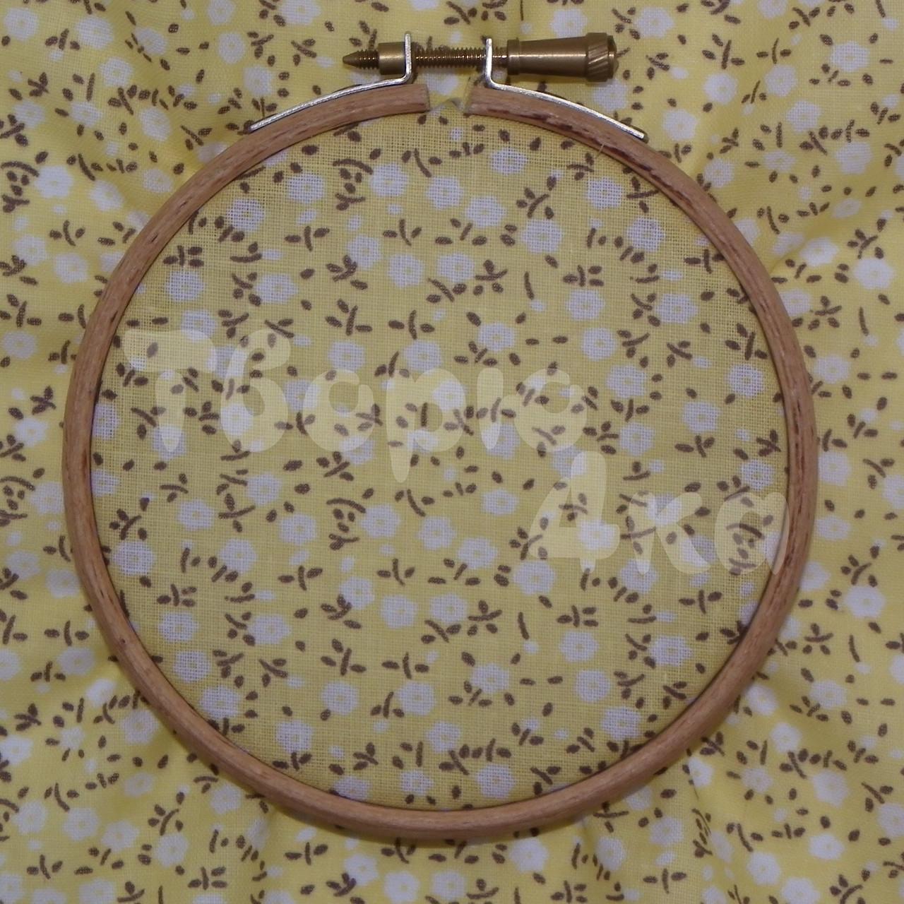 Ткань для пэчворка, кукл тильда желтая в цветочек
