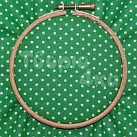 Ткань для пэчворка, кукл тильда зеленая в горошек